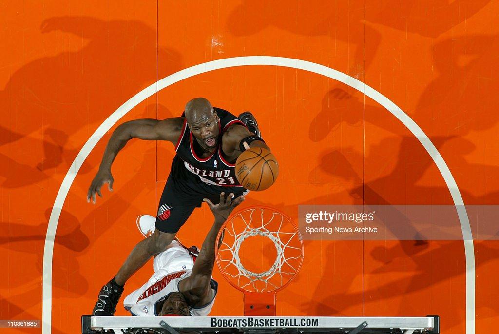 Feb 23, 2006; Charlotte, NC, USA; Portland Trailblazers RUBEN PATTERSON, against Charlotte Bobcats at the Charlotte Bobcats. The Blazers won 91-83.