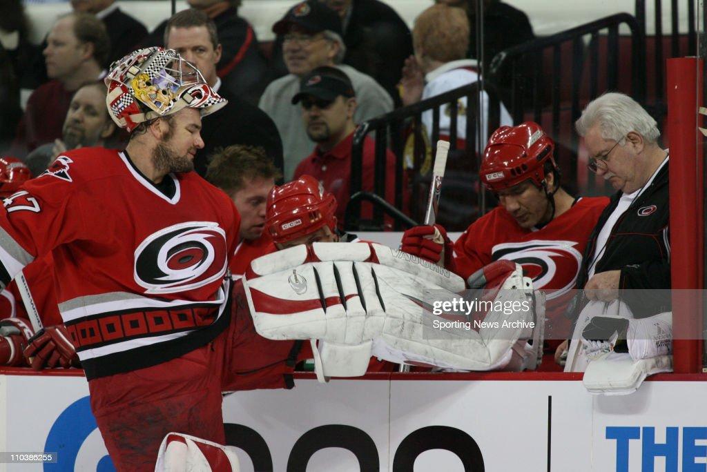 Feb 27, 2007 - Raleigh, NC, USA - Ottawa Senators against Carolina Hurricanes JOHN GRAHAME , equipment manager, WALLY TATOMIR on Feb. 27, 2007, at the RBC Center in Raleigh, NC. The Senators won 4-2.