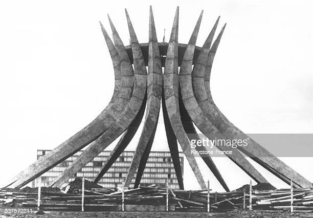 The new ultra modern cathedral of Brasilia Brazil on February 7 1961