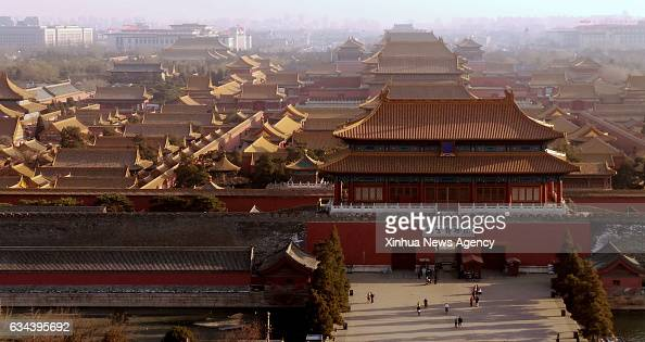 BEIJING Feb 9 2017 Photo taken on Feb 8 2017 shows the Palace Museum seen from Jingshan Park in Beijing capital of China Beijing has strengthened the...