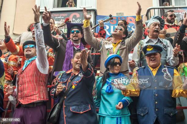 Feb13 2016 Càdiz Spain The Càdiz carnival is underway Carnival has a long tradition in the city of Càdiz The celebrations last 2 weeks each year in...