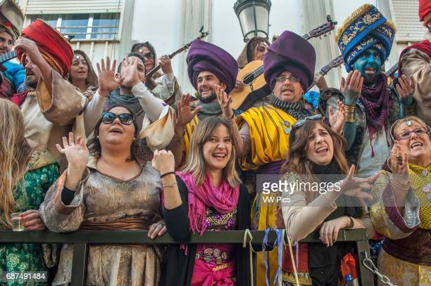 Feb14 2016 Càdiz Spain The Càdiz carnival is underway Carnival has a long tradition in the city of Càdiz The celebrations last 2 weeks each year in...