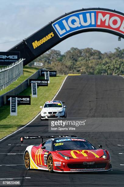 No 88 McDonald's Maranello Motorsport Ferrari 458 GT3 driven by Mika Salo / Toni Vilander / Tony D'Alberto / Grant Denyer during practice on Day 2 of...