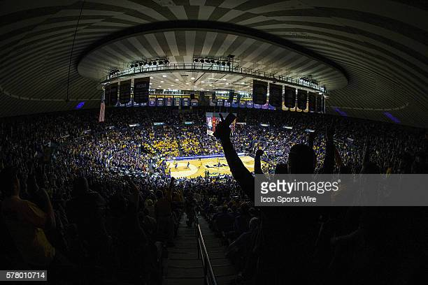 Kentucky Wildcats at LSU Tigers Fans watch from the stands of the Pete Maravich Assembly Center during a game in Baton Rouge Louisiana