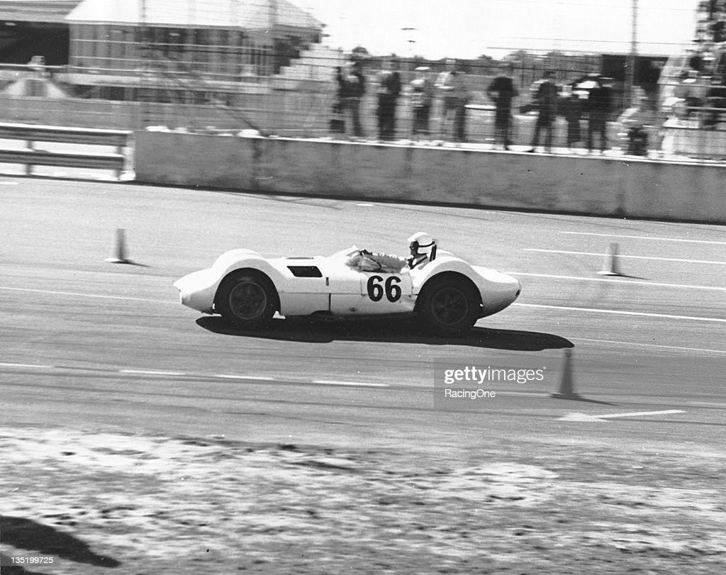 Jim Hall drove his Chaparral 1 to third place overall in the first Daytona Continental at Daytona International Speedway Hall was the S5000 class...