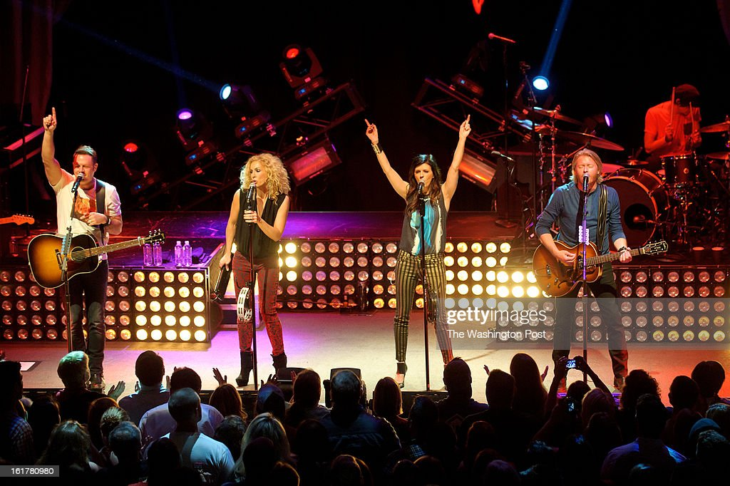 WASHINGTON, DC - February 14th 2013 - Jimi Westbrook, Kimberly Schlapman, Karen Fairchild and Phillip Sweet of Little Big Town perform at the 9:30 Club in Washington, D.C. The band's 2012 album, 'Tornado,' contains the hit single 'Pontoon,' which recently won Best Country Duo/Group Performance at the 55th Grammy Awards.