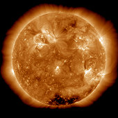 February 17, 2011 - Solar activity on the Sun. An X-class solar flare erupts from the sun's active region. X-flares are the strongest type of solar flare.