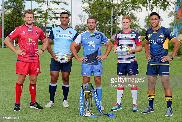 James Slipper of the Reds Wycliff Palu of the Waratahs Matt Hodgson of the Force Nic Stirzaker of the Rebels and Christian Lealiifano of the Brumbies...