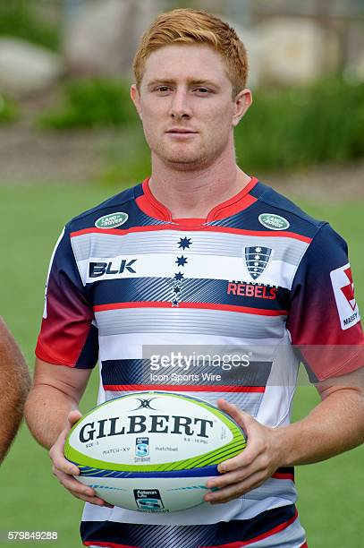 Melbourne Rebels scrumhalf Nicholas Stirzaker pictured during the 2016 Asteron Life Super Rugby Media Launch event at Wet'n'Wild Sydney in NSW...