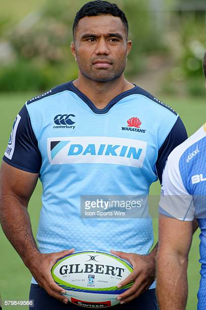 Waratahs player and veteran Wallabies No8 Wycliff Palu pictured during the 2016 Asteron Life Super Rugby Media Launch event at Wet'n'Wild Sydney in...