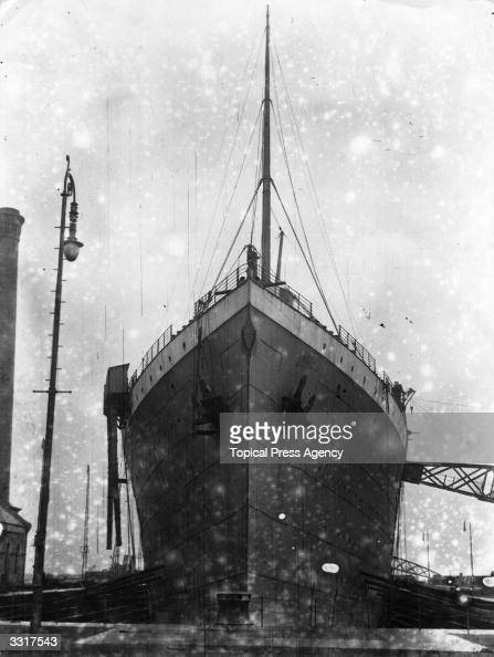 The illfated White Star liner the 'Titanic' at Harland and Wolff's shipyard Belfast