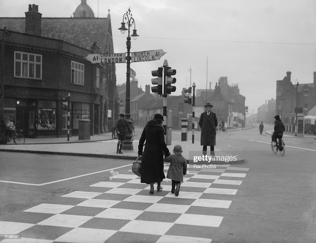 A pedestrian crossing in Newark Lincolnshire