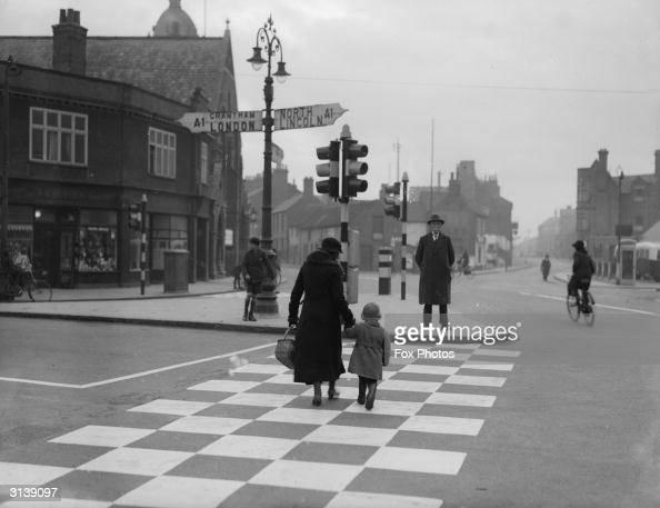 A pedestrian crossing in Newark Lincolnshire