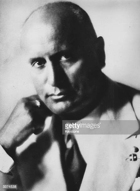 Italian fascist dictator Benito Mussolini also known as Il Duce