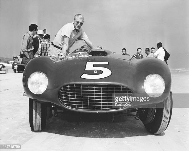 Jim Kimberly of Chicago IL brought this 1955 Ferrari 375 to the Daytona BeachRoad Course for Speed Trials and won the Sports Class 6 for European...