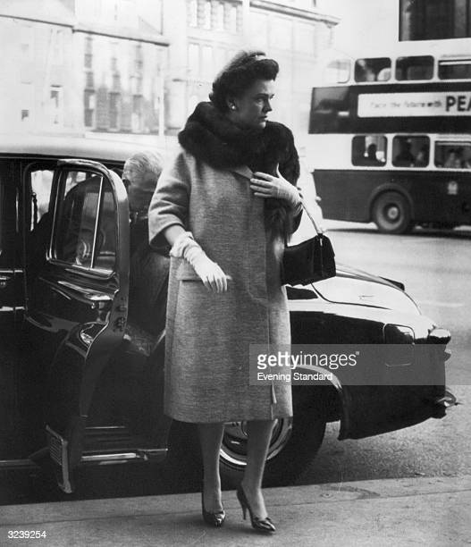 Margaret Sweeny the Duchess of Argyll arriving at court during her divorce hearing in Edinburgh