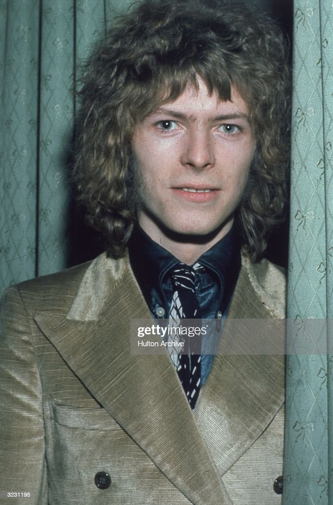 Pop singer David Bowie at the 'Disc and Music Echo' Valentine Awards ceremony at the Cafe Royal in London