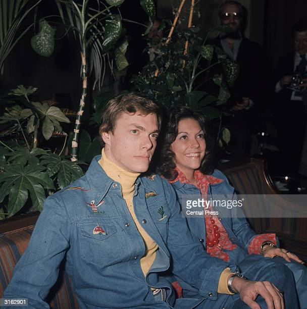 Karen Carpenter vocals and drums and Richard Carpenter piano and vocals during their British Tour dressed in matching denim outfits