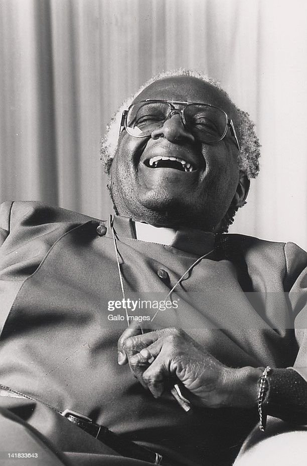 Archbishop <a gi-track='captionPersonalityLinkClicked' href=/galleries/search?phrase=Desmond+Tutu&family=editorial&specificpeople=214730 ng-click='$event.stopPropagation()'>Desmond Tutu</a> laughing.