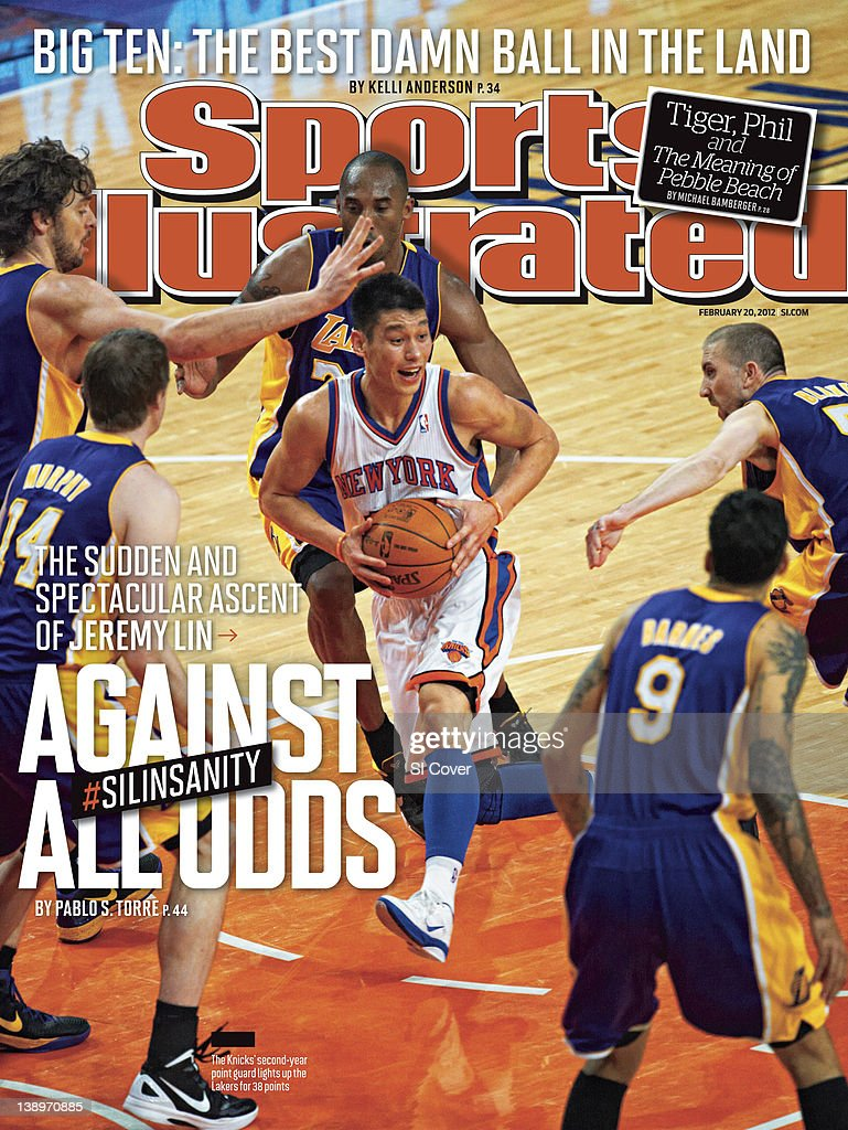 February 20 2012 Sports Illustrated Cover New York Knicks Jeremy Lin in action vs Los Angeles Lakers at Madison Square Garden New York NY CREDIT...
