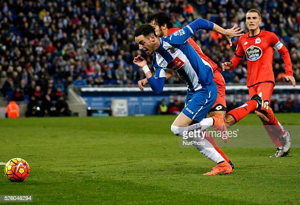 Jorge Burgui during the match between RCD Espanyol and Deportivo de la Coruna corresponting to the week 25 of the spanish league played at the...