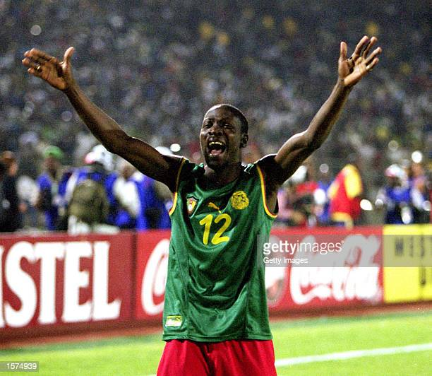2002 African Nations Cup African Nations Cup Final Cameroon v Senegal Final 26 March Stadium Bamako Mali Lauren Etame Mayer celebrate their victory...