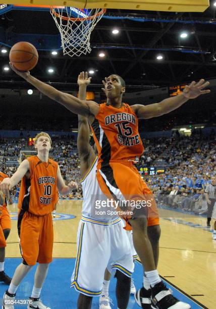 Oregon St Set Tarver during an NCAA basketball game featuring the Oregon State Beavers against the UCLA Bruins played at Pauley Pavilion in Westwood...