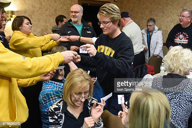 Ballots are handed out during a local Republican Party caucus as part of the Iowa Caucus in Fort Madison Iowa Fort Madison area Republicans narrowly...