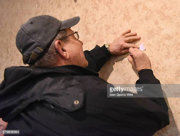 Steve McCracken marks his ballot for Jeb Bush during a local Republican Party caucus as part of the Iowa Caucus in Fort Madison Iowa Fort Madison...