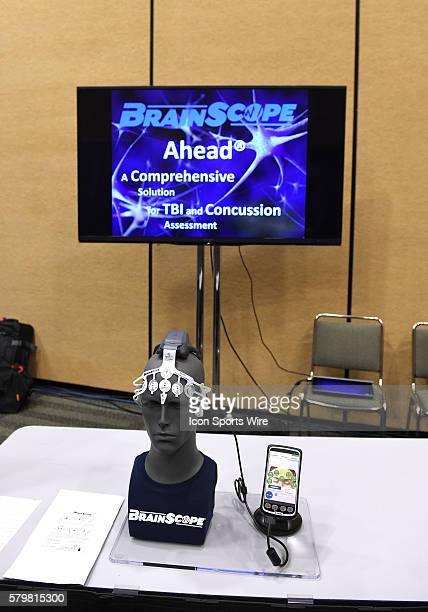 The Ahead electro headset by the BrainScope company for comprehensive TBI and Concussion assessment during the Health Safety Update and Interactive...