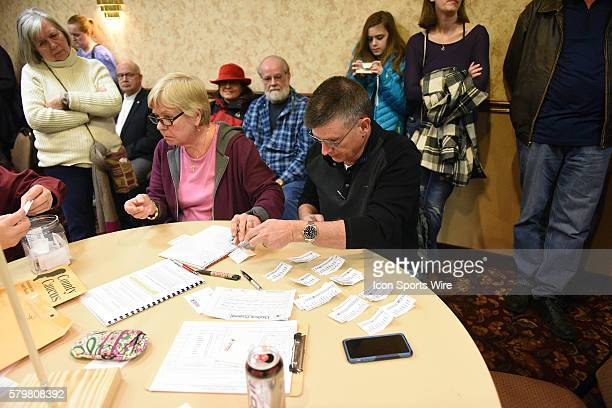 The ballot counting begins during a local Republican Party caucus as part of the Iowa Caucus in Fort Madison Iowa Fort Madison area Republicans...