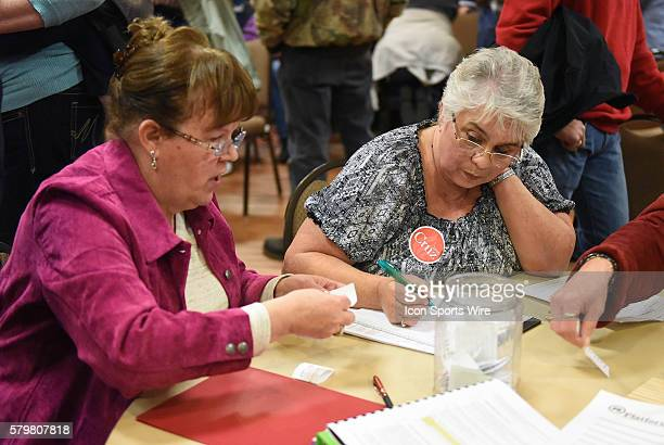 The ballots are counted during a local Republican Party caucus as part of the Iowa Caucus in Fort Madison Iowa Fort Madison area Republicans narrowly...