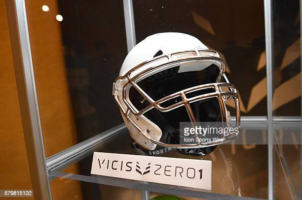 The Vicis Zero1 helmet technology on display during the Health Safety Update and Interactive Technology Showcase at the Moscone Center in San...