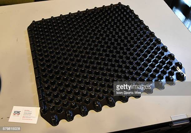 The Viconic turf impact absorbing material on display during the Health Safety Update and Interactive Technology Showcase at the Moscone Center in...