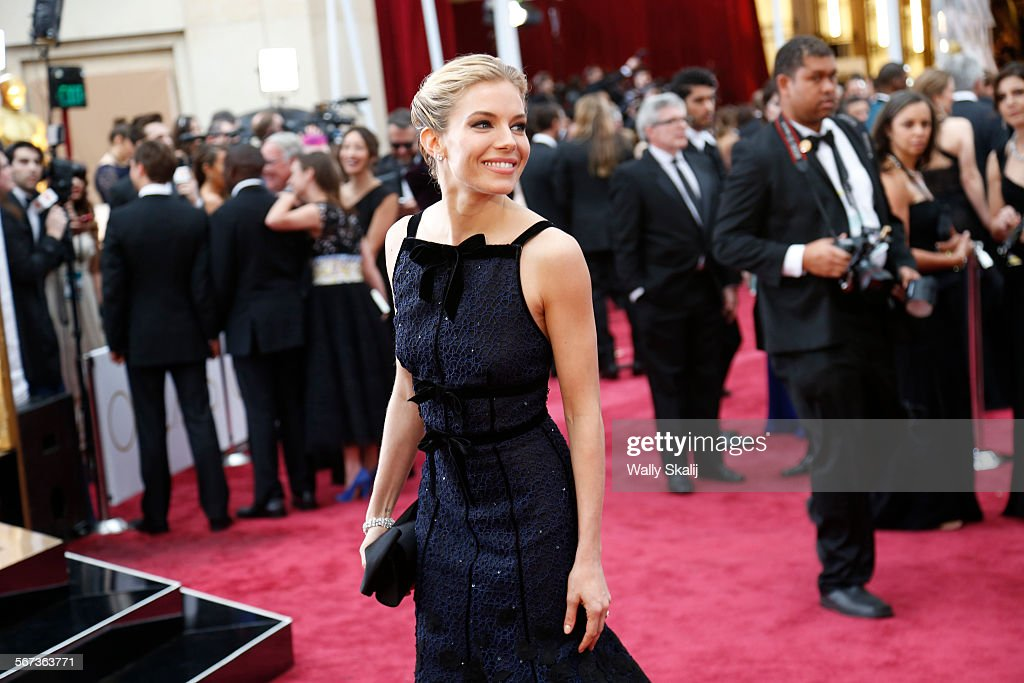 HOLLYWOOD CA February 22 2015 Actress Sienna Miller during the arrivals at the 87th Annual Academy Awards on Sunday February 22 2015 at the Dolby...