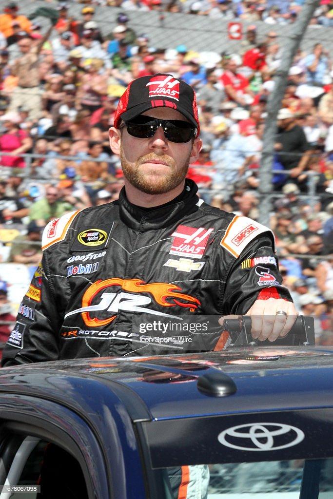 Regan Smith on pit lane before the running of the NASCAR Sprint Cup Series Daytona 500 race at Daytona International Speedway in Daytona, Florida