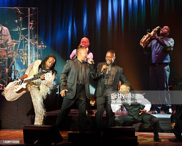 Earth Wind and amp Fire perform during the 40th Anniversary concert benefitting the Duke Ellington School of the Arts at the John F Kennedy Center...