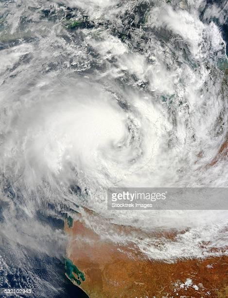 February 25, 2013 - Tropical Cyclone Rusty approaching the northwestern coast of Australia.