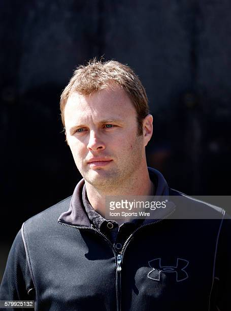 Travis Kvapil with nothing to do during practice for the Folds of Honor Quiktrip 500 NASCAR race at the Atlanta Motor Speedway in Hampton GA His race...