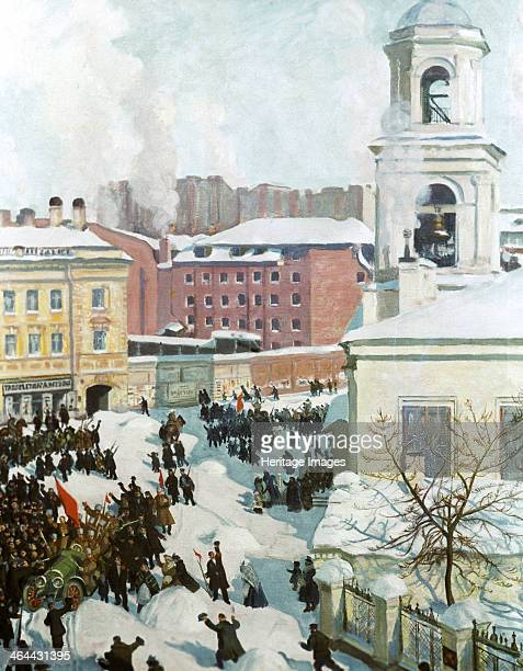 'February 27th 1917' 1917 Scene depicting the Russian February Revolution which overthrew the regime of Tsar Nicholas II Found in the collection of...