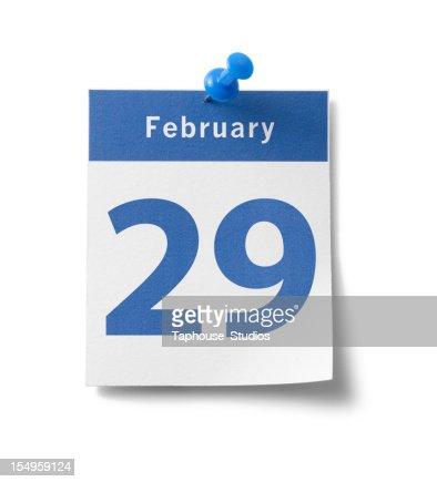 February 29th Calendar