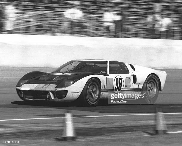 Ken Miles and Lloyd Ruby shared the driving chores of this Ford MK II entered by Shelby American as they won the 24 Hour Daytona Continental at...