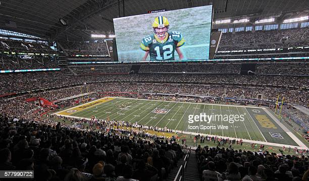 The gigantic centerhung highdefinition television screen the largest in the world and sometimes referred to as