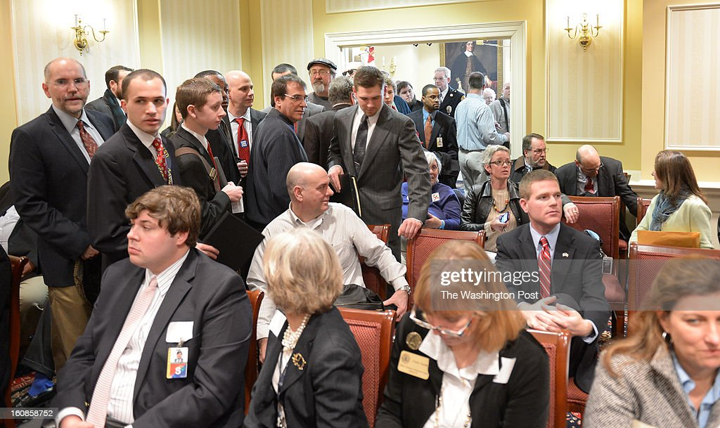 Seats were snapped up quickly as the doors opened to the public for the Judicial Proceedings Committee hearing on Senate Bill 281- Firearm Safety Act of 2013 in the Senate office buildings on February 6, 2013 in Washington, DC