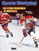 February 7 1977 Sports Illustrated Cover Hockey Montreal Canadiens Guy LaFleur in action vs Washington Capitals Montreal Canada 1/23/1977