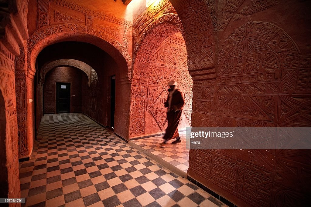 February 8th, 2012, Town of Timimoun, Algeria. The Red Oasis hotel, built of clay almost a hundred years ago in the heart of Timimoun, has been turned into a cultural center.