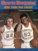 February 9 1976 Sports Illustrated Cover College Basketball Closeup portrait of Tennessee Ernie Grunfeld and Bernard King during photo shoot at...