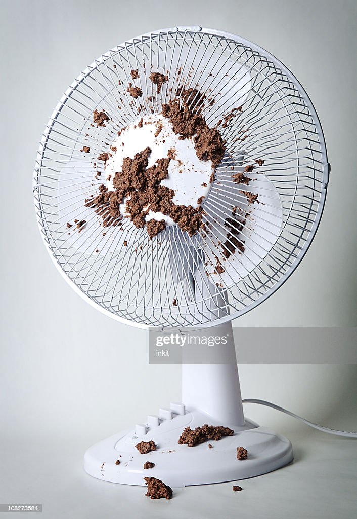 Feces on Fan : Stock Photo