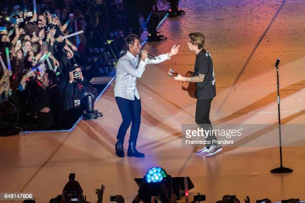 Fede and Benji of Benji Fede Perform at Mediolanum Forum on March 4 2017 in Milan Italy