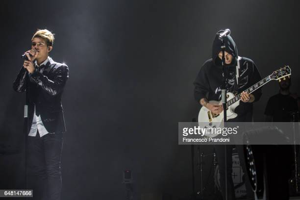 Fede and Benji of Benji Fede Performs at Mediolanum Forum on March 4 2017 in Milan Italy